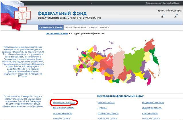 Territorial fund of compulsory medical insurance of Belgorod region