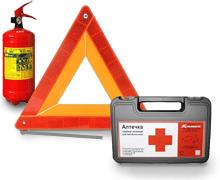 Не забудьте положить в машину огнетушитель, аптечку, знак аварийной остановки