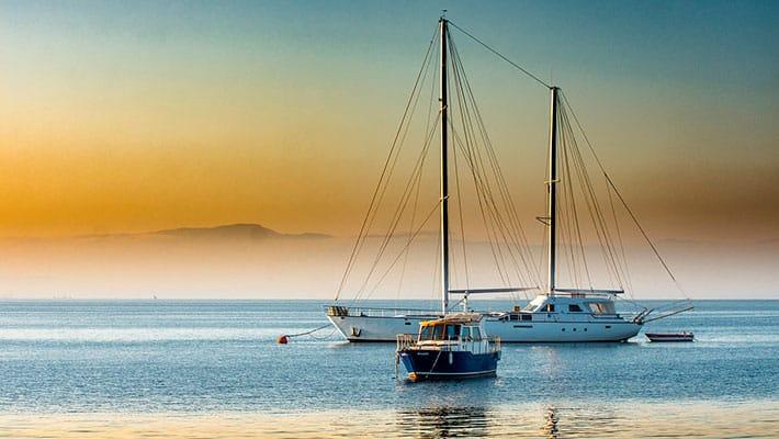 Путешествие за границу на лодке